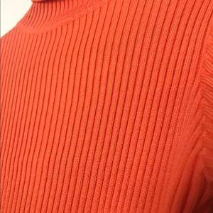 Neon Orange Mini Turtleneck Dress - Honeybum